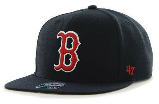 BOSTON RED SOX MLB FLAT BILL SURE SHOT 47 BRAND CAPTAIN SNAPBACK CAP HAT NEW!