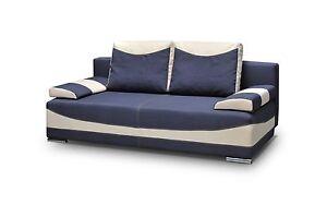 Schlafsofa Blau mit schlaffunktion sofa schlafsofa blau beige mit bettkasten