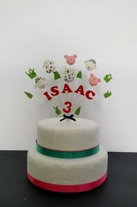 Image Is Loading Farm Animal Yard Pig Cow Sheep Birthday Cake