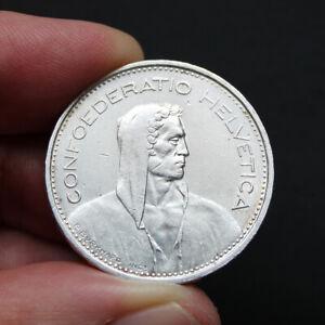 Piece-Argent-5-Francs-Suisse-Berger-des-Alpes-Annees-Variees-1931-1969