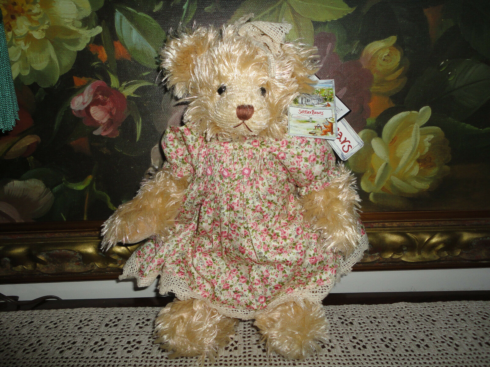 Settler Bears Australia JOAN Catalogue Booklet All Tags Rose Dress 14in Jointed