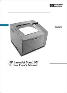 hp laserjet 5 5m laser printer 208 page user guide manual paper not rh ebay com hp laserjet 5m manual pdf hp laserjet 5 parts manual