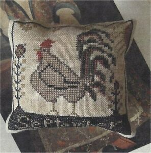 CHART-PATTERN-Primitive-Rooster-Cross-Stitch-Sampler-UNCUT-NEW-Nikyscreations
