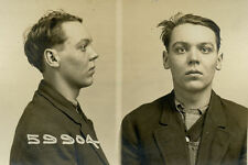 1914, ORIGINAL crime mugshot and card, robbery, PETERSON, crime, CHICAGO police