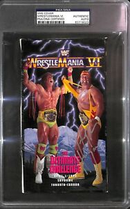Hulk Hogan 20 Signed Wrestlemania VI 6 VHS Cover & Lineup PSA/DNA ...