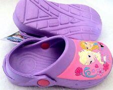 New Girls Disney Frozen Rubber Core Clogs Crocs Sandals Purple/Lilac UK 8 Infant