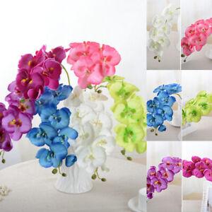 Seda-Artificial-Orquidea-de-mariposa-flor-ramo-Phalaenopsis-Decoracion-para-Boda-Falso