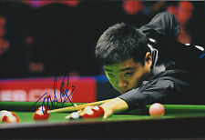 Ding JUNHUI 丁俊晖 AUTOGRAPH Signed Photo AFTAL COA SNOOKER Shanghai Masters Winner