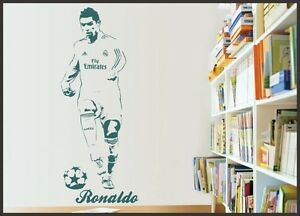 Cr7 cristiano ronaldo wall sticker children bedroom wall decal wall image is loading cr7 cristiano ronaldo wall sticker children bedroom wall voltagebd Choice Image