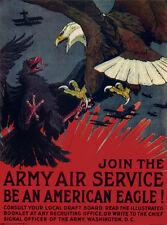JOIN THE ARMY Charles Livingston Bull 1917-1918 propaganda style poster print
