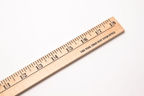 """Wood Ruler 18/"""" long x 1-1//8/"""" width x 1//4/"""" thickness set of 3 perfect for sewers"""