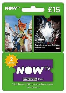 b1423dee632 NOW TV Openbox 2 Month Sky Movies UK Pass for sale online | eBay