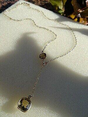 Gelernt Gold- Kette, 585 Gold Filled, Mit Honig-citrin In Modernem Design