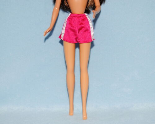 Hot Pink w// White Side Stripes Excercise Athletic Shorts Genuine BARBIE Fashion