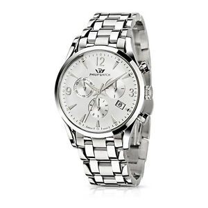 Orologio-Philip-Watch-Sunray-R8273908145-acciaio-watch-SWISS-uomo-CRONOGRAFO