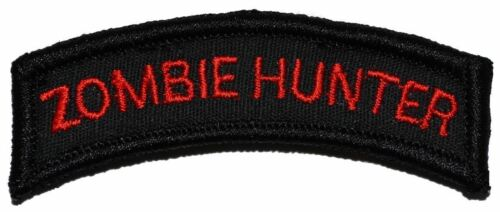 Zombie Hunter Military//Morale//Police Tab Patch Hook Backing