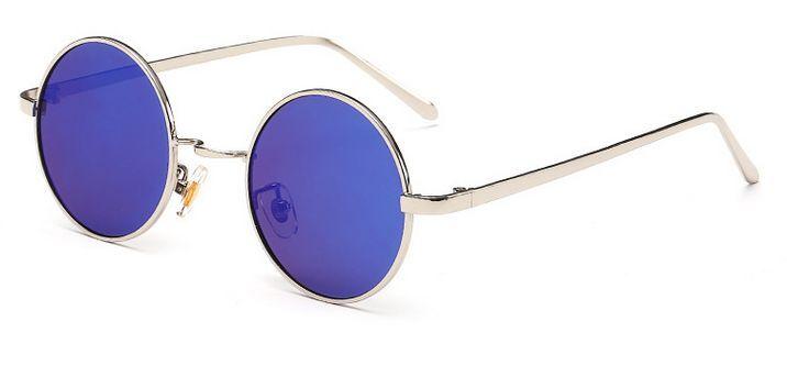 Agstum Sport Retro Gafas De Sol Polarizadas círculo redondo Metal Gafas Para Mujer Para Hombre