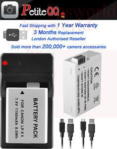 2XUSB-CABLES-Charger-2X1150mAh-LP-E8-Battery-for-Canon-EOS-650D-700D-600D-550D