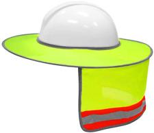 Sun Shade For Hard Hat Reflective Breathable Helmet Neck Full Brim Shield Mesh