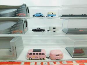 Bo883-0-5-3x-Schuco-h0-1-87-VW-bus-turismos-caravanas-21754-21710-25446-embalaje-original
