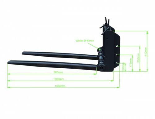Palettengabel Mini 400 kg Frontlader MXC1 Gabelträger Palettenheber