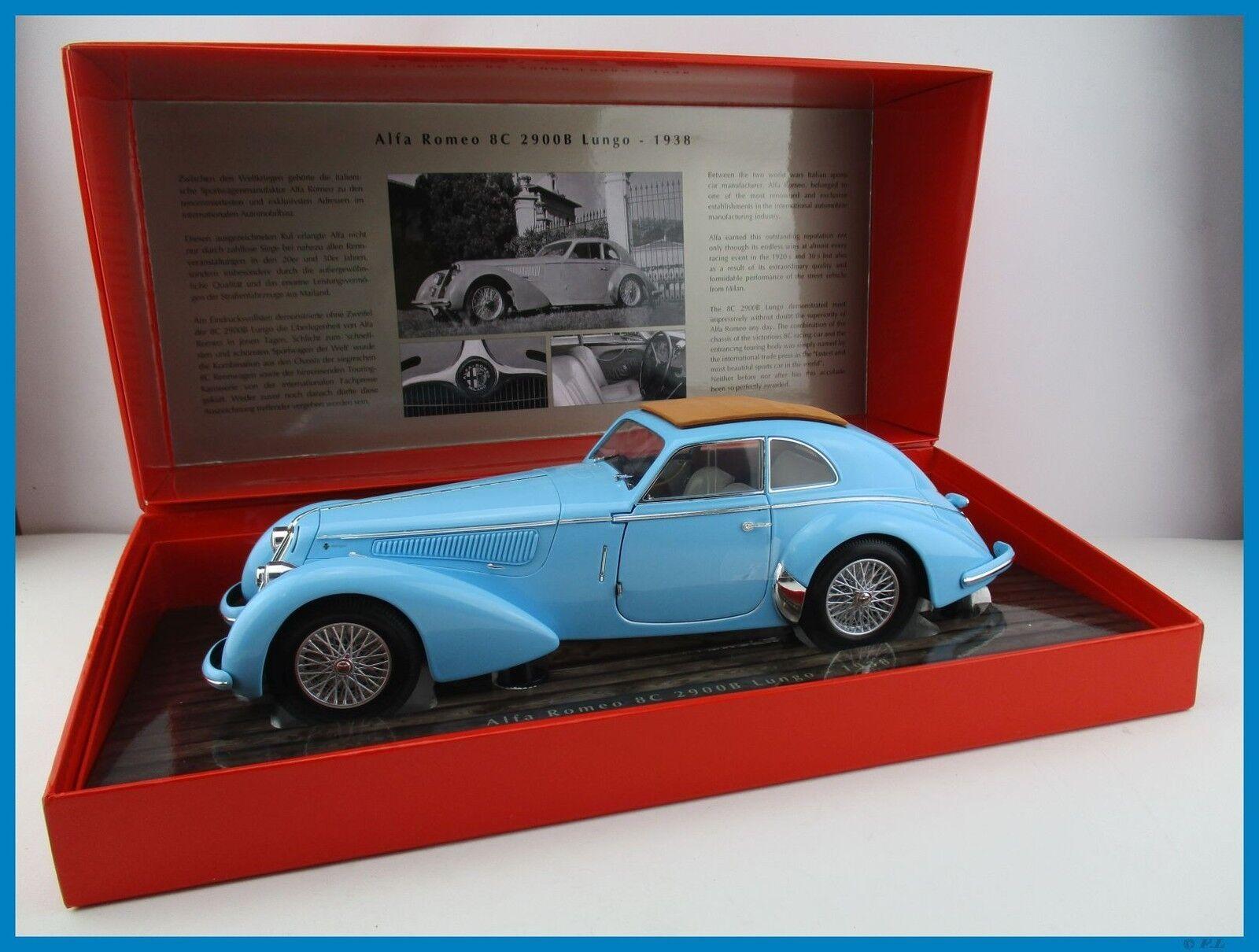 Alfa romeo 8c 2900b lungo 1938 in hellblau minichamps 1,18 neu ovp