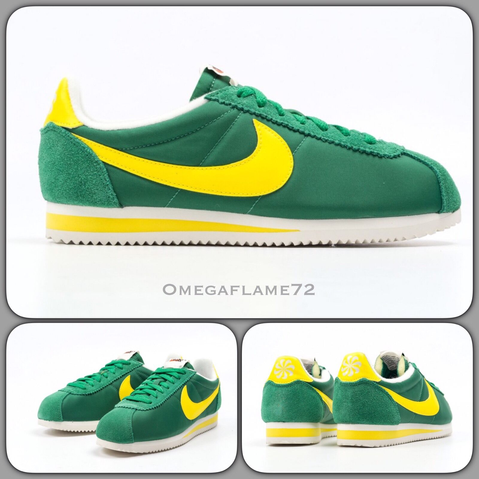 Nike Cortez Oregon Green & Maze Yellow 844855-370 sz, UK10.5, US 11.5