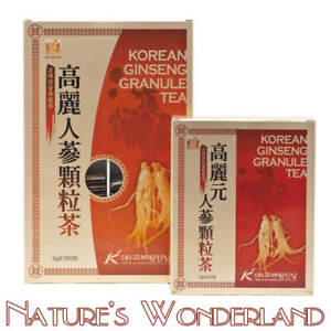 Korean-GINSENG-Granule-TEA-Extract-White-Ginseng-Root-avail-50-or-100-3g-sachets