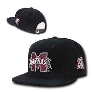 3be25c347a0109 Mississippi Miss State Bulldogs Flat Bill Snapback Baseball Cap Hat