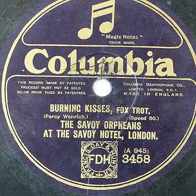 framed 78 record BURNING KISSES / WHAT`LL I DO savoy orpheans