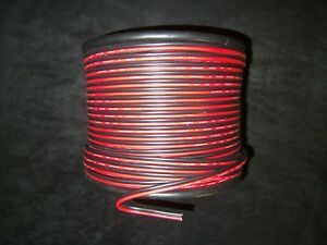24 GAUGE 50 FT RED BLACK ZIP WIRE AWG CABLE POWER GROUND STRANDED COPPER CAR