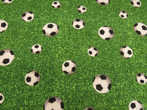 Designer Football Grass Digital Cotton Fabric Curtain Upholstery Blinds Soccer
