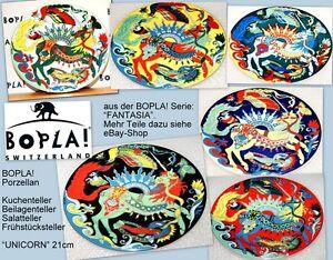 UNICORN-BOPLA-Fantasia-Porzellan-21cm-Beilagenteller-Kuchenteller-Salatteller