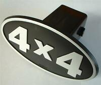 4x4 Hitch Cover Plug Suv Trailer Truck Silver & Black 2 Receiver 4 X 4 4wd