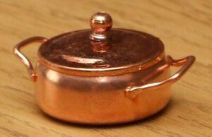 1:12 Dolls House Copper cooking pot