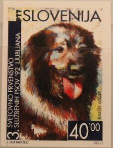 SLOVENIA SLOWENIEN 1992 29 U 144 IMPERF PROOF World CS registered Dogs Hunde MNH