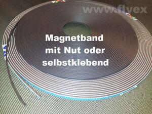 Magnetband selbstklebend mit Nut Magnete Fenster Türen Fliegengitter ...