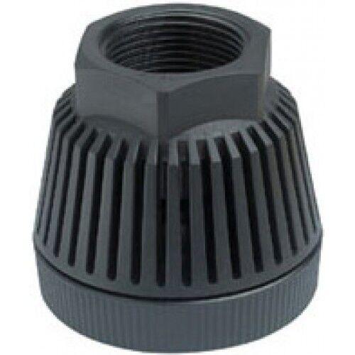 Válvula de pie Hansen Poly flujo de fluidos Rosca Hembra, Negro - 25mm, 32mm, 40mm o 50mm