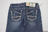 La Idol Jeans Ladies Cotton Medium Embellished 5-pkt Denim Womens Size 3 - 28x34