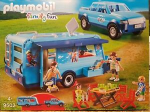 playmobil funpark 9502 pick up mit wohnwagen neuheit 2018 jeep camping neu ovp ebay. Black Bedroom Furniture Sets. Home Design Ideas