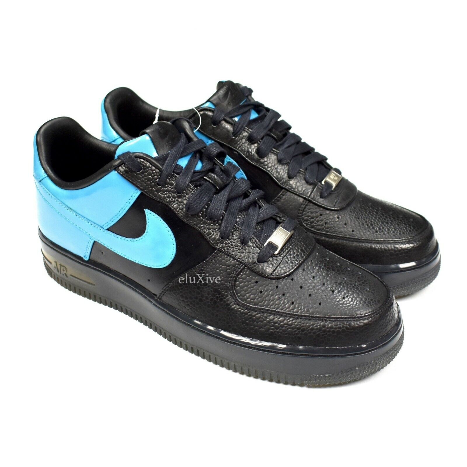NWT Nike Air Force 1 Supreme Max Black Laser bluee All Star 2008 10.5 AUTHENTIC