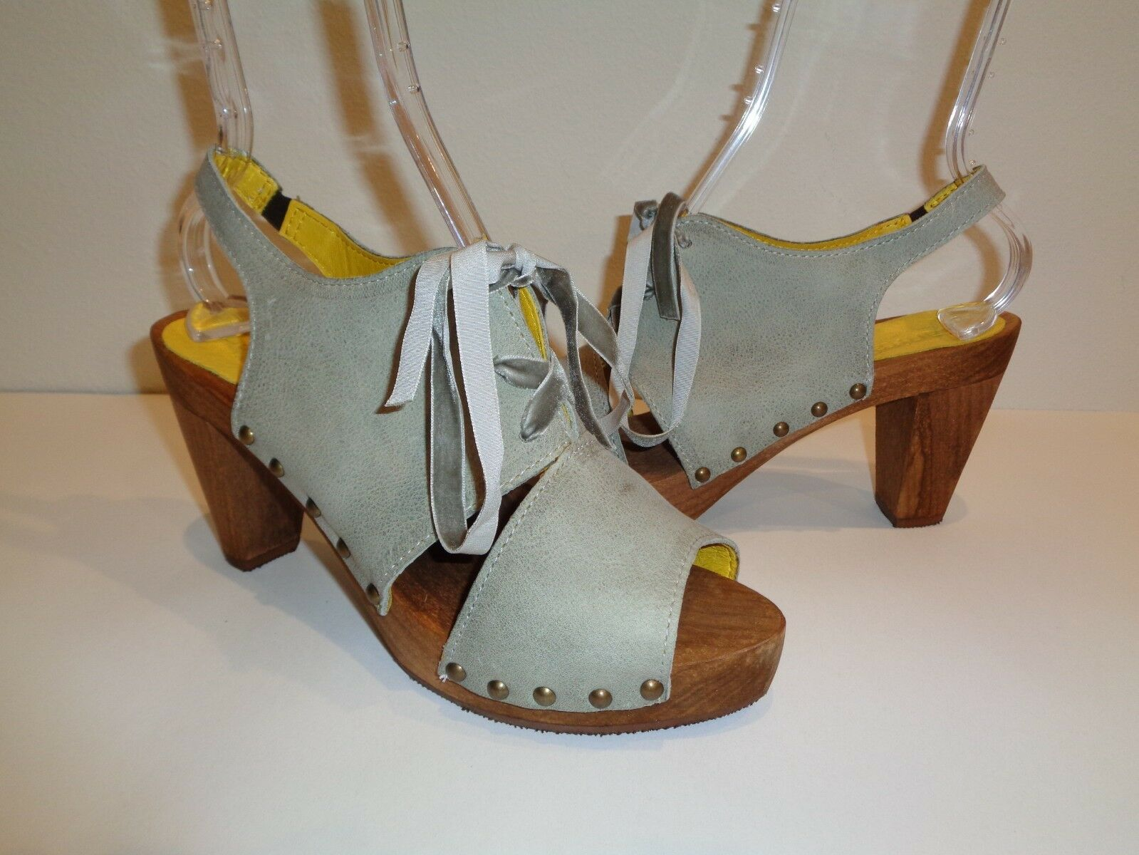 Sanita Size 6.5 Eur 37 SPICA SPICA SPICA PLATEAU Light bluee Leather Sandals New Womens shoes bfefe2