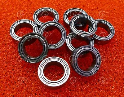 7x11x3mm Metal Double Shielded Ball Bearing Bearings 7*11*3 10 Pcs MR117ZZ