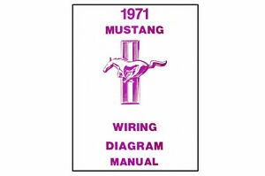 1971    Ford    Mustang    Wiring    Diagram    Manual   eBay