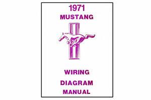 1971    Ford    Mustang    Wiring    Diagram    Manual   eBay