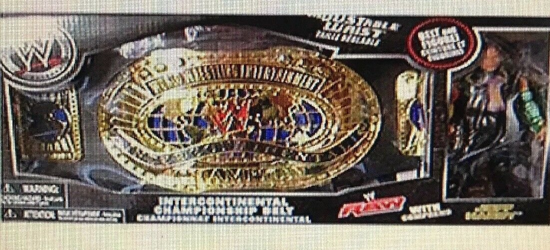 WWE Wrestling Exclusive Intercontinental Championship Belt with Jeff Hardy