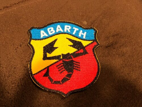 """FIAT ABARTH /""""ABARTH/"""" SHIELD RED BLUE YELLOW BLACK LOGO JACKET SHIRT HAT PATCH"""