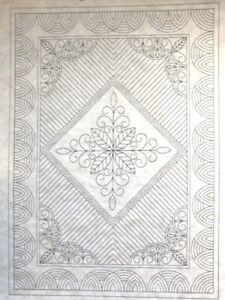 "Welsh Lap Quilt Premarked Wholecloth  2 Colors avail, 36"" x 50"""