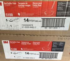 2 Pack3m Low Speed Buffer Floor Pads 510017 Diameter Redcase Of 5new