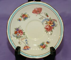 Aynsley-English-Fine-Bone-China-Orphan-Saucer-Pretty-Mixed-Flowers